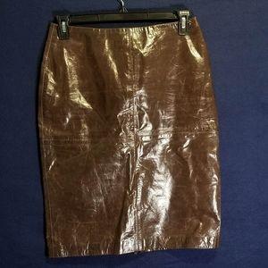 Spiegel Genuine Leather Skirt